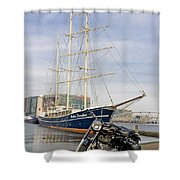 Royal Enfield Motorcycle Shower Curtain