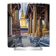 Royal Grand Palace Columns Shower Curtain