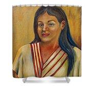 Royal Maiden Xochitl Shower Curtain
