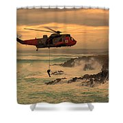 Royal Navy Rescue  Shower Curtain