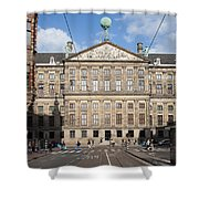 Royal Palace From Raadhuisstraat Street In Amsterdam Shower Curtain