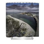Royal Palm Morning View Shower Curtain