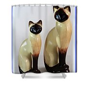Royal Siamese - Ceramic Cats Shower Curtain