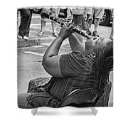 Royal Street Clarinet Player New Orleans Shower Curtain