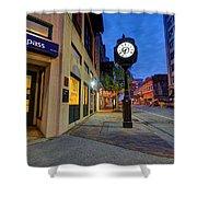 Royal Street Clock Shower Curtain