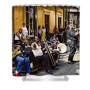 Royal Street Jazz Musicians Shower Curtain