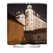 Royal Wawel Castle By Night In Krakow Shower Curtain