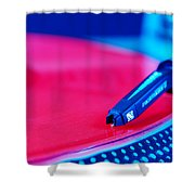 Royall Groove In Vertical Format Shower Curtain