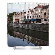 Rozenhoedkaai Bruges Shower Curtain