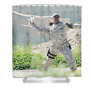 Rq-11b Raven Shower Curtain