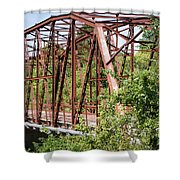 Rt 66 Bridge In Oklahoma Shower Curtain