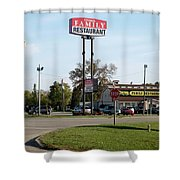 Rt 66 Chenoa Illinois Shower Curtain
