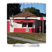 Rt 66 Dwight Il Food Stop Shower Curtain