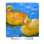 Rubber Ducks In A Tub Shower Curtain