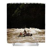 Rubber Raft Running Rapids Shower Curtain