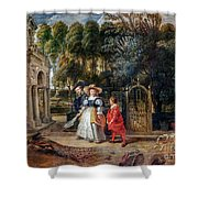 Rubens In His Garden With Helena Fourment Shower Curtain
