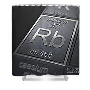 Rubidium Chemical Element Shower Curtain