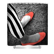 Rubies  And Stripes  Shower Curtain