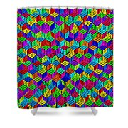 Rubik's Cube Abstract Shower Curtain