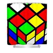 Rubik's Phone Shower Curtain