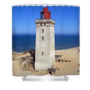 Rubjerg Knude Lighthouse 2 Shower Curtain