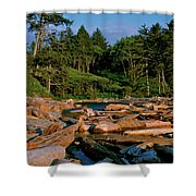 Ruby Bay North Pacific Ocean Shower Curtain