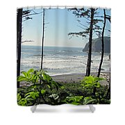Ruby Beach I Shower Curtain