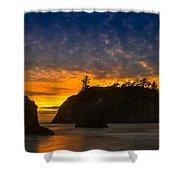 Ruby Beach Olympic National Park Shower Curtain