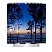 Ruby Beach Sillouette II Shower Curtain