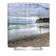 Ruby Beach Summer Shower Curtain