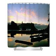 Ruby Beach Sunset Olympic National Park Shower Curtain