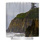 Ruby Beach Surf II Shower Curtain