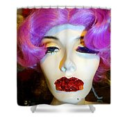 Ruby Red Lips Shower Curtain