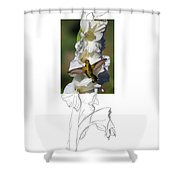Ruby-throated Hummingbird 2am-104192 Shower Curtain