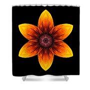 Rudbeckia I Flower Mandala Shower Curtain