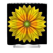 Rudbeckia Prairie Sun I Flower Mandala Shower Curtain