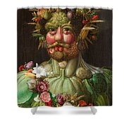 Rudolf II Of Habsburg As Vertumnus Shower Curtain