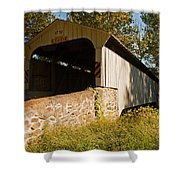Rudolph Arthur Covered Bridge Shower Curtain
