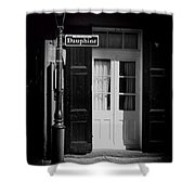 Rue Dauphine French Quarter New Orleans-monochrome Shower Curtain