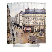 Rue Saint Honore Afternoon Rain Effect Shower Curtain