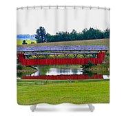Ruffner Covered Bridge Shower Curtain