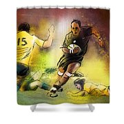 Rugby 01 Shower Curtain