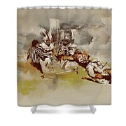 Rugby Shower Curtain by Corporate Art Task Force