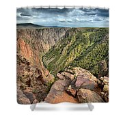 Rugged Edge Of The Canyon Shower Curtain