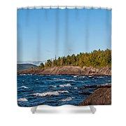 Rugged Lake Superior Coastline Shower Curtain