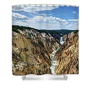 Rugged Lower Yellowstone Shower Curtain by John Kelly