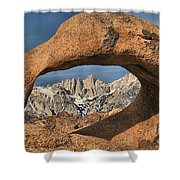 Rugged Peaks Through Mobius Shower Curtain