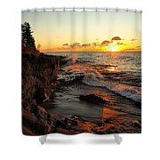Rugged Shore Fall Shower Curtain