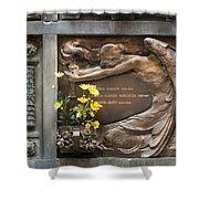 Ruggeri Roncoroni Guzzi Grave Marker Monumental Cemetery Milan Shower Curtain