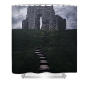 Ruin Of Castle Shower Curtain by Joana Kruse